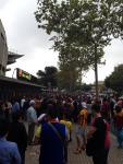 Avant le match, a l'exterieur du Camp Nou