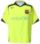 Maillot FC Barcelone 2006/2007 Third UNICEF
