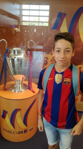 Silan avec la 1ere C1 du Barça
