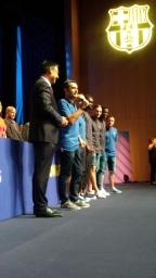 Presentation des nouveaux joueurs du Barça