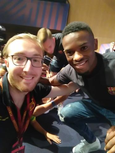 Nicolas avec Semedo, recrue du Barça